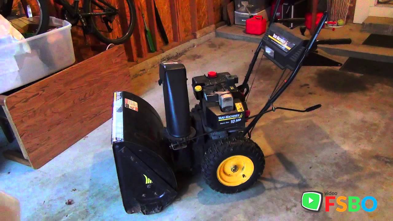 Manual Starting Cord 10hp Mtd Yard Man Showthrower With Electric Start You