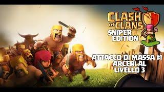 Clash Of Clans   2# Attacco di massa con 180 arcieri