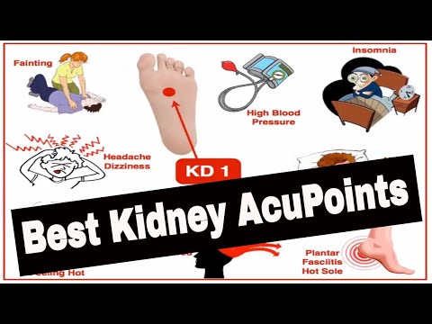 Common acupuncture points of the Kidney meridian