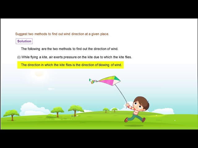 Wind Storm & Cyclone - Q1 - Direction of Wind - CBSE class 7th science