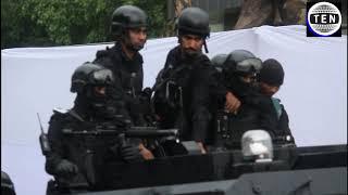 Jaitley's Funeral: NSG commandos with VIP convoy make way through water logging