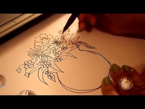 Vase Of Flower Drawing And Coloring Youtube