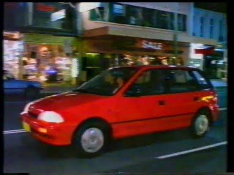 Holden Barina 1989 TV commercial Suzuki Swift  Beep Beep