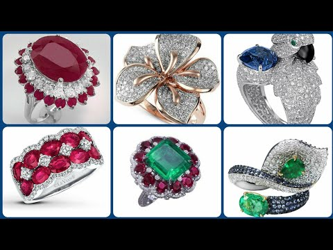 Best American Diamond Ruby Beautiful Rings Design's Collection For Wedding And Engagement