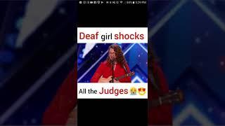 Deaf girl shocks all the judges😭😭😭😍😍