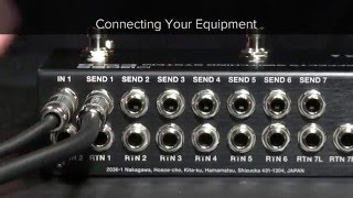 ES-8 Quick Start Chapter 1: Connecting Your Equipment