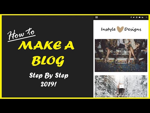 How to MAKE A BLOG with Wordpress - 2019 STEP BY STEP thumbnail