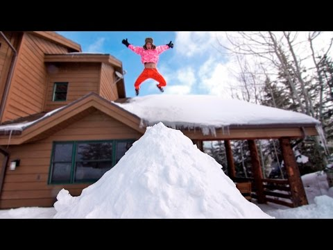 Thumbnail: ROOF JUMPING INTO GIANT SNOW PILE
