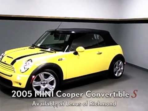 2005 Mini Cooper S Convertible Available At Lexus Of Richmond