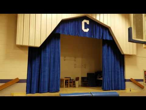 New stage curtains
