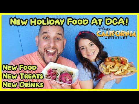 *NEW* Holiday Food Guide At DCA | Christmas | Food Guide | Disneyland
