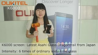 OUKITEL K6000 hammer challenge-Asahi Glass Dragontrail