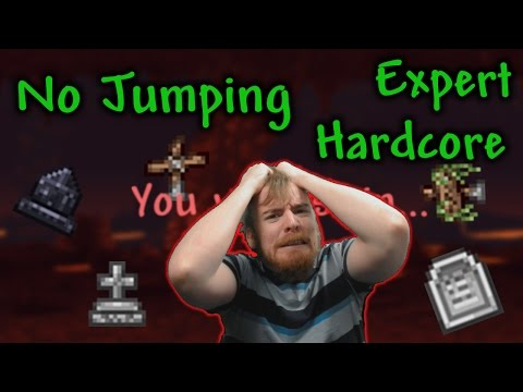 🚩Terraria🚩 No Jumping, Expert, Hardcore, All Bosses #1