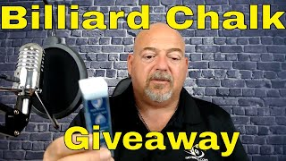 Silver Cup Billiard Chalk Giveaway and pool hall chat