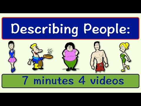 Describing People   Four Videos in One   English Speaking Practice   ESL   EFL   ELL