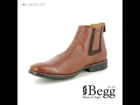 Savelli Cardosin 6713-20 Tan Leather Chelsea Boots