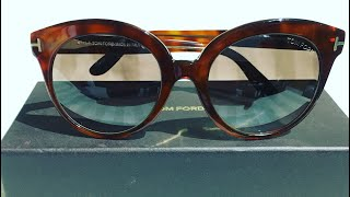 5c6a89c8d9 Tom Ford Monica Round Sunglasses (Unboxing) ...