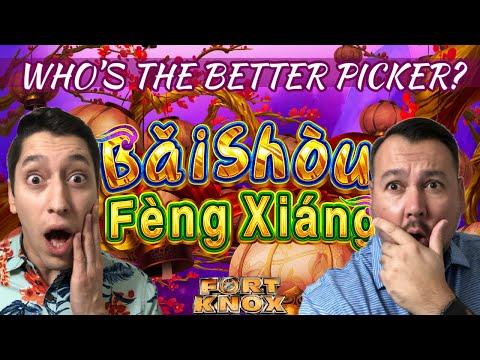 BIG WIN IN FREE GAMES on Bai Shou Feng Xaing Slot Machine