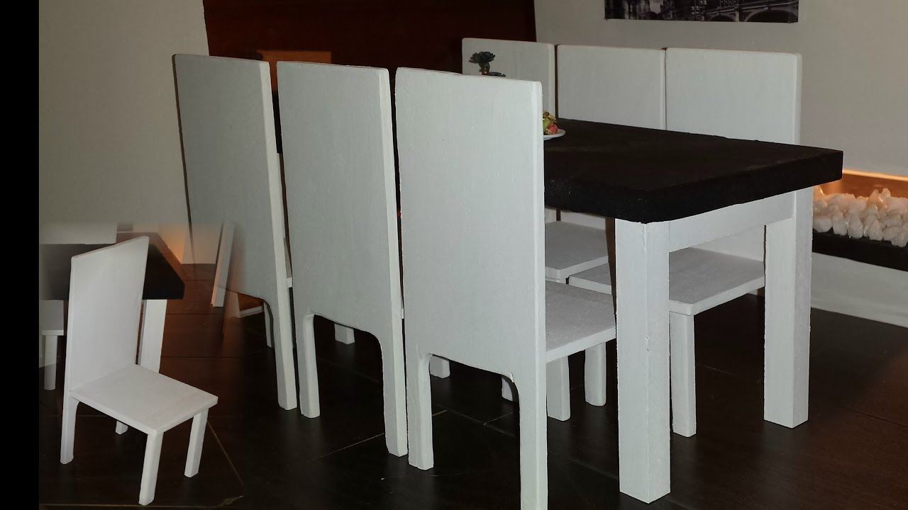 DIY 1:6 Scale Doll Dining Table Set