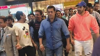 Salman Khan And Varun Dhawan Spotted At Airport, Returns After Shooting For BHARAT