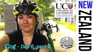VLOG Day 6 Part 2 Christchurch , My University, Student accommodation NZ, cycling Soth Island