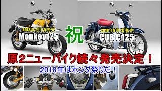 【新型 Honda スーパーカブC125/モンキー125 2018年発売決定】PCX ハイブリッド/エレクトリックだけじゃない~honda SuperCUB C125/Monkey125 thumbnail