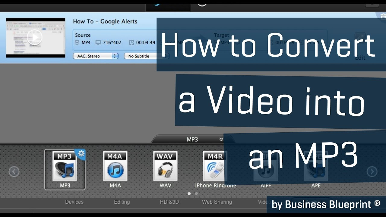 How to convert a video to an mp3 with iskysoft business blueprint how to convert a video to an mp3 with iskysoft business blueprint malvernweather Choice Image