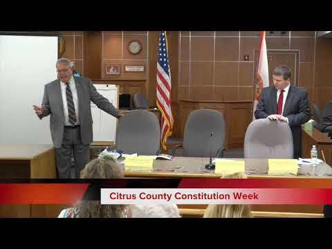 Citrus County Constitution Week with Circuit Judge Richard A. Howard