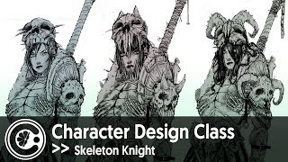 Skeleton Knight Character Concept Art