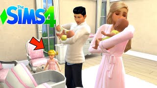 Titi Family New Babies -  Baby Goldie is jealous of The Twins - Sims 4