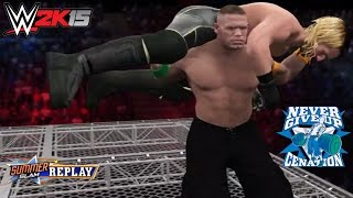 WWE 2K15 Top 5 Extreme Attitude Adjustment (AA) feat. John Cena! (PS4)