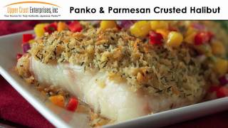 Panko & Parmesan Crusted Halibut