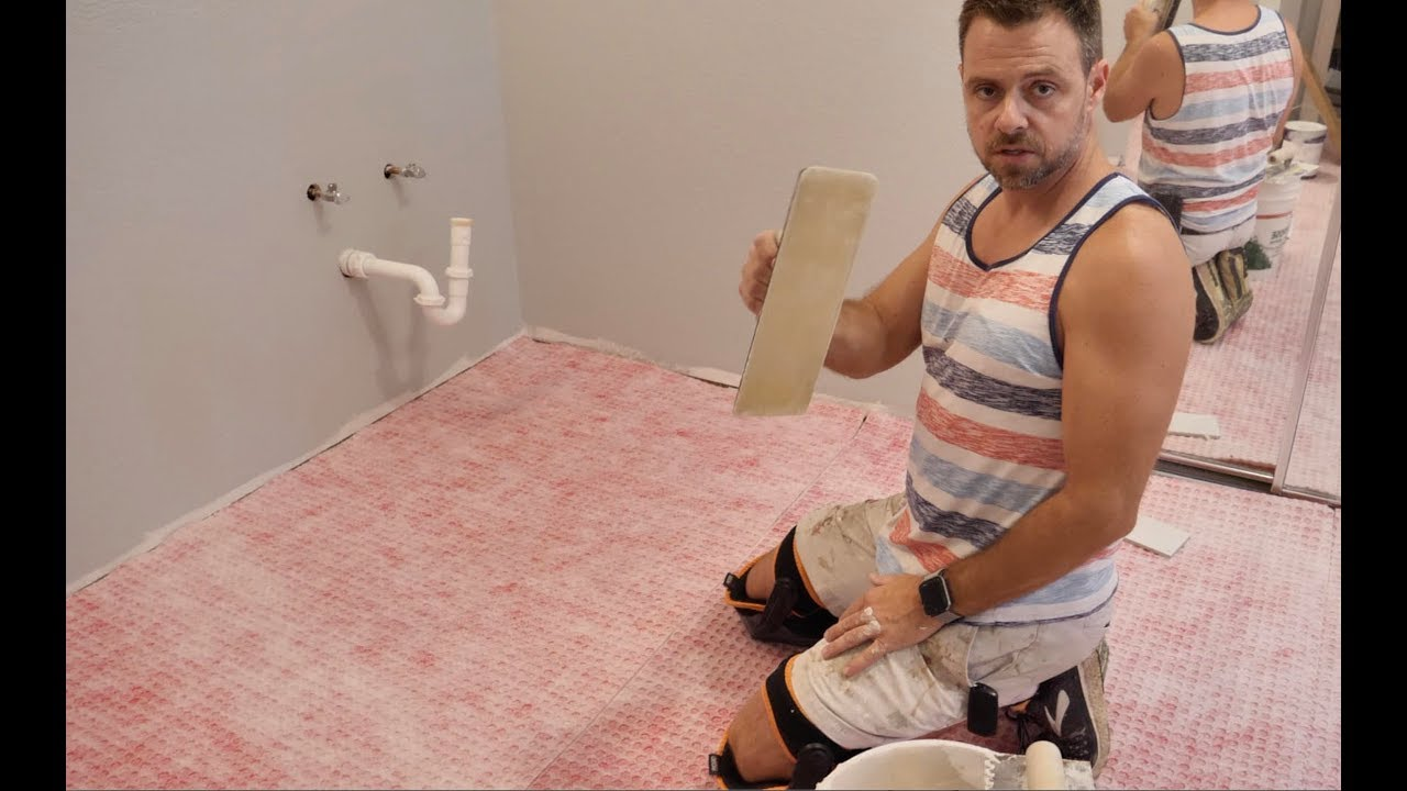 how to install redgard uncoupling mat