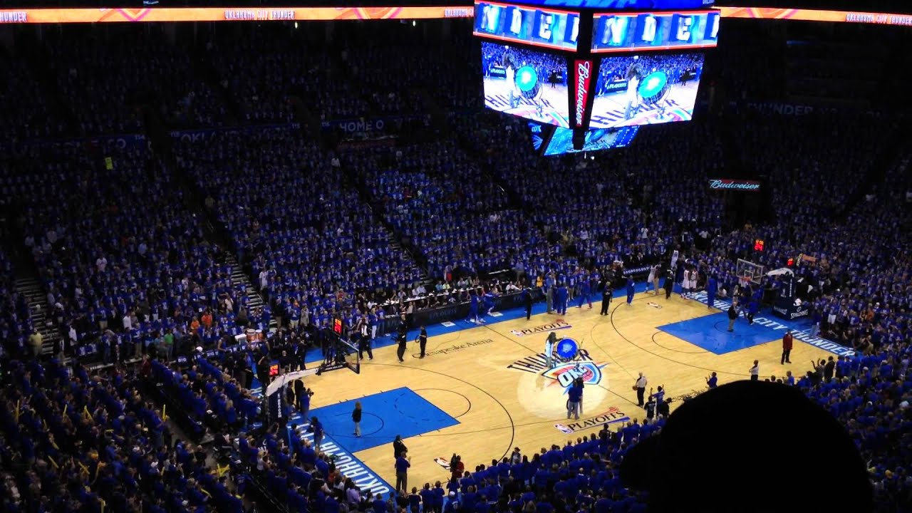 OKC Thunder Rumble Preps Crowd for Tip-Off NBA Playoffs ...