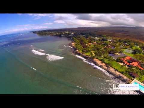 Maui Hawaii - An Aerial view of surfing in Lahaina 2014 - Using a DJI Phantom 2