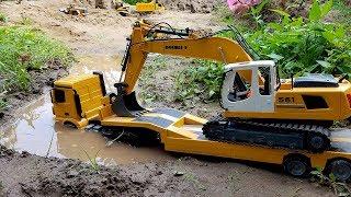 Dump truck for children | Excavator for kids | ABC Bi Bi Kids