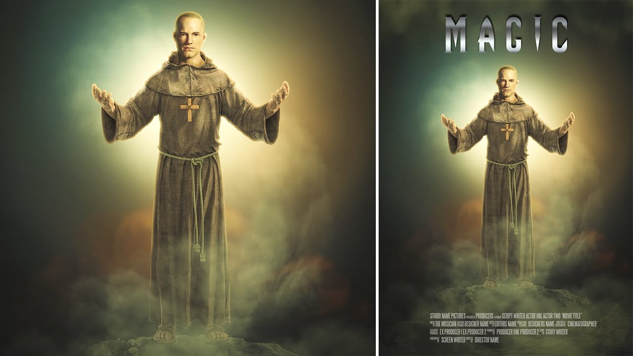 Poster design in photoshop - Photoshop Manipulation Movie Poster Design Dark Fantasy Effect Youtube