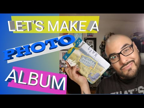 DIY Photo Album - Beach Photo Album - How to Make a Photo Album - Paper to Masterpiece