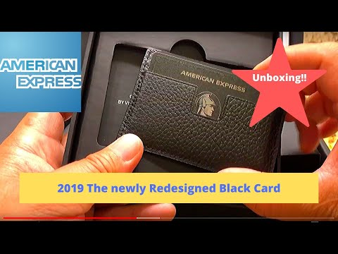Newly Designed American Express Centurion  Black Card  RFID 4th Generation