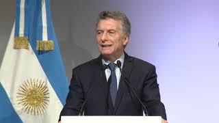 El presidente Mauricio Macri expuso en la apertura del J20