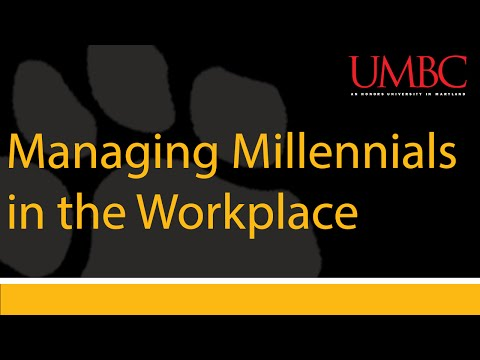UMBC'S I:O Psychology Webinar: Managing Millennials in the Workplace