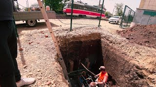 ГНБ прокол под трамвайными путями ПНД труба 110мм под водопровод
