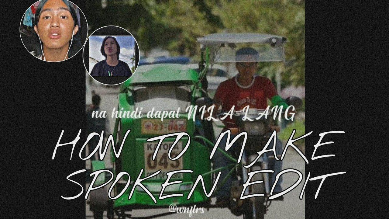HOW TO MAKE SPOKEN POETRY LYRIC EDIT | ALIGHT MOTION | SPOKEN POETRY BY BEVERLY CUMLA |