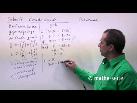 Schnittpunkt zweier Geraden Eckpunkte Dreieck aus drei Geraden 1 from YouTube · Duration:  2 minutes 48 seconds