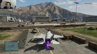 GTA 5 Lets Play | Jet klauen aus der Militärbasis + Amoklauf [07]