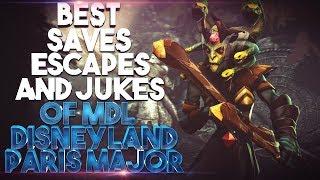 BEST Saves, Escapes & Jukes of MDL Disneyland Paris Major - Dota 2