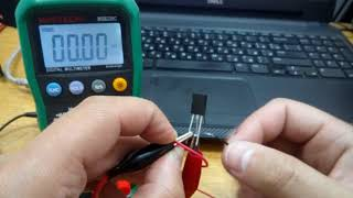 Проверка симистора при помощи мультиметра