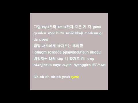 GD&TOP feat. Park Bom - Oh yeah (with lyrics on screen HANGUL + ROMANIZATION)