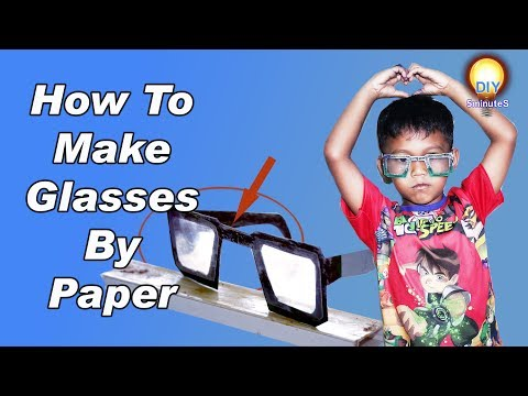 How To Make The Glasses By Paper-DIY 5-Minutes 2018