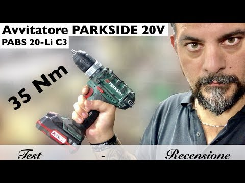 Parkside PABS 20-Li C3 screwdriver - PABS 20-Li D4. Lidl. Gray ring. Without percussion 20V